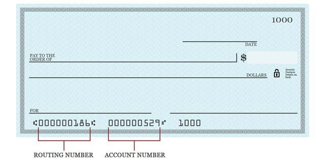use a blank check to get your account and routing number for tax return direct deposit