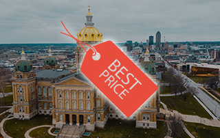 """Featured image for """"10 Cheapest Cities in Iowa"""""""